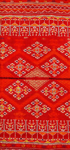 Odhani, embroidery on fine handwoven cotton cloth, Rajasthan/India, around 1900