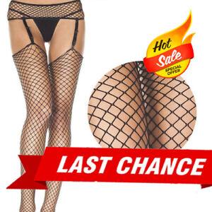 Diamond Fishnet Spandex Garter Belt Clips Stay Up Thigh High Costume Lingerie OS