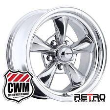 "15 inch 15x7"" Retro Polished Aluminum Wheels Rims for Mercury Cars 1961-1977"