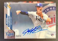 2020 Topps Chrome MICHAEL BROSSEAU Autograph Rookie #RA-MBR Tampa Bay Rays RC