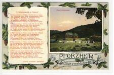 AK Pforzheim, Kupferhammer, Gedicht L. Auerbach 1913