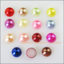 250 New Charms Mixed Acrylic Plastic Faceted Hemisphere FLATBACK 6mm