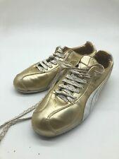 Puma Esito Metallic WP Gold  White Trainer Sneakers 349144 01 Size 8