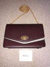 Mulberry Large Darley Oxblood with chain strap and dust cover