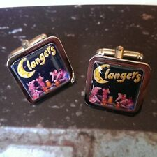 Unique! THE CLANGERS CUFFLINKS cool KIDS TV animation RETRO 70's 80's funky