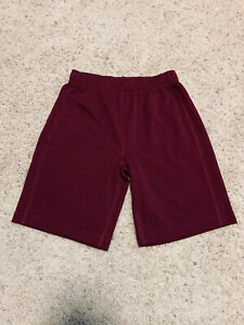 Lands' End Boys' Mesh Gym Shorts, Size M (10-12), Burgundy