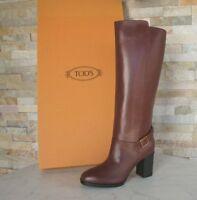 orig TOD'S TODS Gr 39,5 Stiefel Boots Schuhe kastanie marrone NEU ehem UVP 750 €