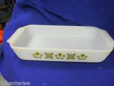 RETRO VTG  FIRE KING ANCHOR HOCKING MEADOW GREEN  #432 CASSEROLE DISH 1.5 Qt