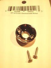 Electrosocket input jack cup - Nickel w/ Screws for Telecaster Style Guitar
