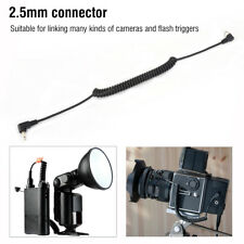 2.5mm to Male PC Flash Sync Cable Screw Lock for Trigger Studio Light SP