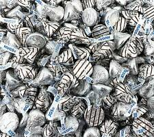 Hershey's Kisses, Hugs and Kisses Milk Chocolate Assortment, Silver Striped Foil