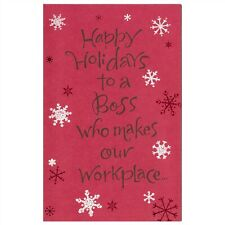 American Greetings Christmas Card: To a Boss Who Makes Our Workplace So Nice!