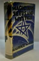 1932 MAGICIANS SEERS AND MYSTICS MUARICE MAGRE OCCULT KNIGHT TEMPLARS FLAMEL