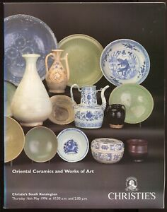 Christies Auction Catalogue ORIENTAL CERAMICS & WOA - May 1996