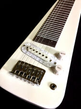 NEW HAWAIIAN  STRAT STYLE 6 STRING ELECTRIC LAP STEEL GUITAR-VINTAGE WHITE