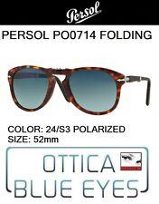 PERSOL 0714 24/S3 52mm polar CUSTOM Sunglasses folding pieghevole steve mcqueen