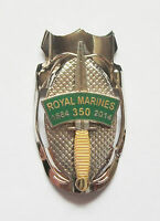 ROYAL MARINES 350TH ANNIVERSARY DAGGER & PATCH LAPEL PIN OR WALKING STICK MOUNT