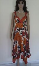 MONSOON Silk Dress. Occasion, Party.  Long, Gorgeous And Flouncy. Lined. SIZE 12