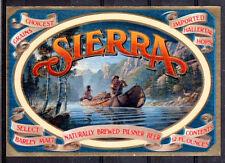 THEME DIVERS étiquette de BIERE SIERRA - TRAPPEURS - NEUF PORT OFFERT BEER BIER