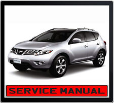 NISSAN MURANO Z51 2009-2011 REPAIR SERVICE MANUAL IN DVD