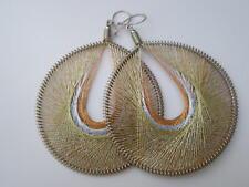 Peruvian Art Metallic Thread - Round - Earrings-1  pair