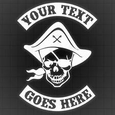 Pirate Decal w/ Rockers, Pirate Wall sticker, Personal Pirate Car Sticker 2PCS