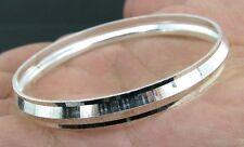 Real Solid Silver Kids Bangle Kara Bracelet 5cm - Single