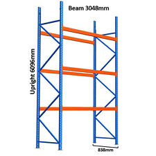 6096mmH x 3048mmW Pallet Racking Warehouse Dexion Compatible Heavy Duty Shelving
