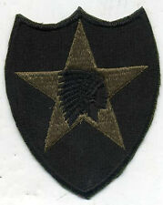 US Army Vietnam Era 2nd Infantry OD Subdued Patch Early Cut Edge Facing Right