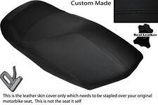 Negro Stitch Custom Fits Yamaha Yp 125 Majestad 00-03 Frontal De Cuero Funda De Asiento