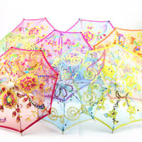 DOLLHOUSE MINIATURE 1:12 TOY BEDROOM FURNITURE GARDEN FLOWER UMBRELLA BEAUTIFUL