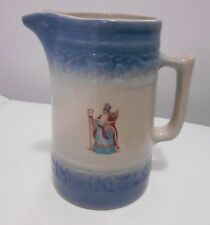 RED WING POTTERY STONEWARE PITCHER HOMETOWN FAMILY CHRISTMAS 1999
