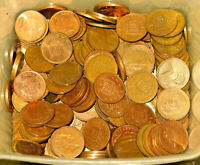 Lot of 100 Great Britain UK One Penny & New Penny Mixed Date Coins! 2 Rolls!