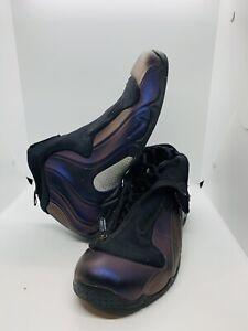 Nike Air Flightposite 624015-051 Black / Eggplant-Metallic Silver Size 11