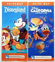 Disneyland and California Adventure May 2019 Guide Map Set Mickey Mouse Donald