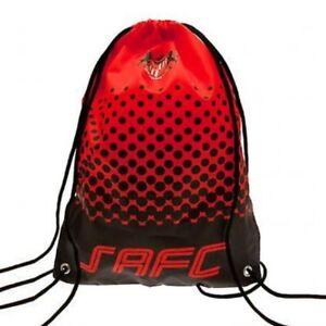Sunderland Football Club Official Gymbag PE Bag Swimming Kit Bag Drawstring Red