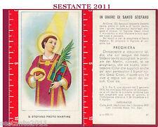458 SANTINO HOLY CARD  SANTO S. STEFANO PROTOMARTIRE  ED G MI ED. G MI. 57