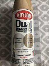 2 cans KRYLON Dual SUPERBOND PAINT+PRIMER Khaki Gloss In/Outdoor Spray Paint12oz