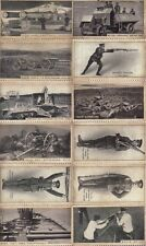 12 World War I Cigarette Cards / Trade Cards Modern War Weapons Collection