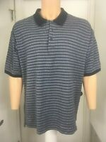 Mens IZOD GOLF Short Sleeve Double  Mercerized Cotton Checks Polo Shirt  XXL