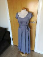 Ladies WRAP LONDON Dress Size 8 10 Grey Stretch Jersey Smart Casual Day Party