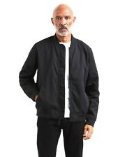 New Levi's Mens Nylon Black Lyon Bomber Zip Up Winter Jacket Coat Size Large