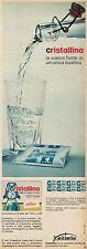 J0529 CRISTALLINA Ferrero polveri per acqua... - Pubblicità - 1964 Vintage Ad