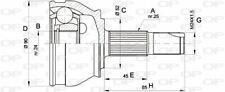TêTE DE CARDAN POUR ALFA ROMEO 33 SPORTWAGON 1.4 I.E.,33 1.4 I.E.,1.5,1.7 I.E.