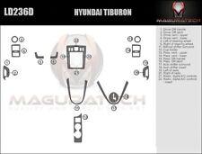 Fits Hyundai Tiburon 2003-2005 With Digital AC Large Wood Dash Trim Kit