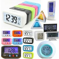 Digital Alarm Clock LED Backlight Snooze Glowing Date Display Biside Night Light