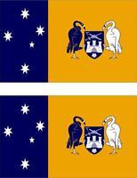 2x Adhesivo adesivi pegatina sticker vinilo bandera australia capiral