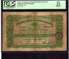 China, 10 Dollars 1923, P-S358 * Shanghai Branch *