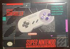 Super Nintendo  Original Controller - Gray *Rare BOX, Stikers, Manual *
