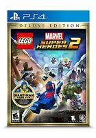 PS4 LEGO Marvel Super Heroes 2 Deluxe Edition PlayStation 4 Brand New